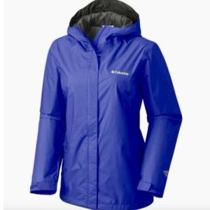New womens Columbia waterproof rain jacket